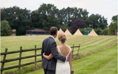 Elinor and Mat's wedding at Harambee House, nr Liphook, Hampshire.